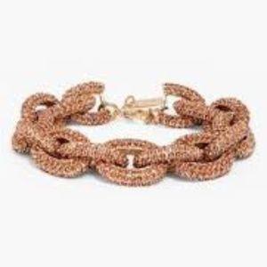 Brand New Bauble Bar Coral Pave Link Bracelet